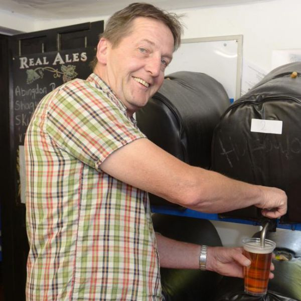 Cheers! Raising a glass to toast rejuvenation of real ale